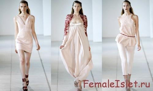 Пудровый оттенок в одежде