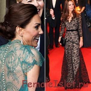 знаменитости в кружевном платье