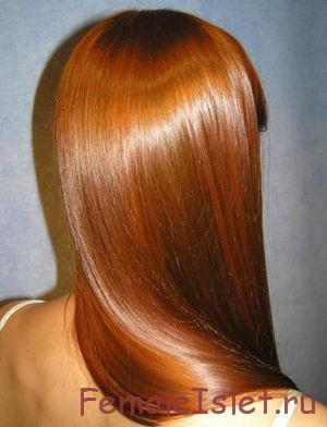блестящие волосы