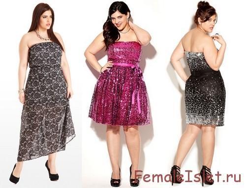 платье для полных 2014