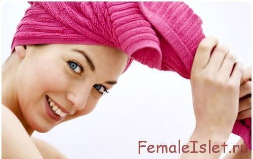 сушить волосы в полотенце